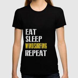 Eat. Sleep. Windsurfing. Repeat. T-shirt