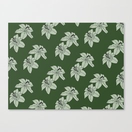 Lily The Tiger - Green Canvas Print