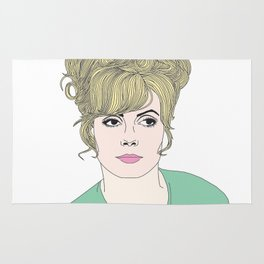 Fashion illustration Rug