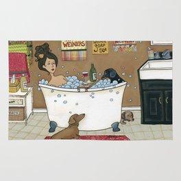 Wieners in the Tub Rug