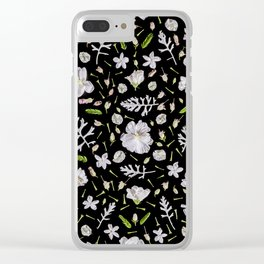 Leaves and flowers (10) Clear iPhone Case