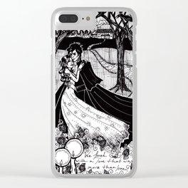 Cliche Gothic Romance Clear iPhone Case
