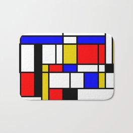 Art work inspired to P. Mondrian (n.1) Bath Mat