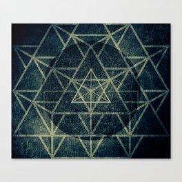 Tetrahedron Ignis Dark Canvas Print