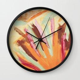 Abstract R6 Wall Clock