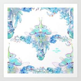 Aqua Chalcedony Art Print