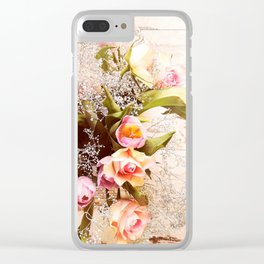 Life is better with flowers Clear iPhone Case