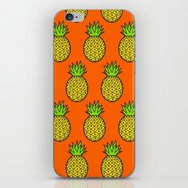 Tropical Pineapple Pattern iPhone Skin