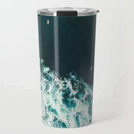 WAVES - OCEAN - SEA - WATER - COAST - PHOTOGRAPHY Travel Mug