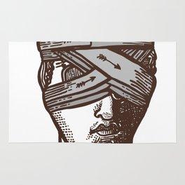 Wrapped Head (transparent) Rug