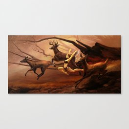Running Deers Canvas Print