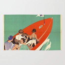 Lake Winnipesaukee - Vintage Poster Rug