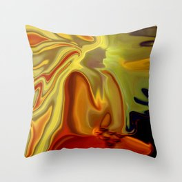 GURU IN MEDITATION Throw Pillow