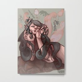 Grey Fairy Metal Print