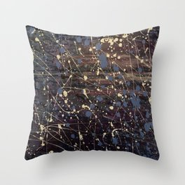 New York. Graffiti, Abstract, Blue, Purple, Pollack, Jodilynpaintings, Splatter Throw Pillow