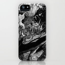 Flowering - Untitled Face III iPhone Case
