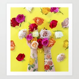 Everything is Sunshine + Roses Art Print