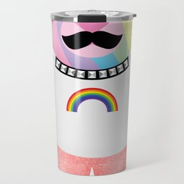 Punk Rainbow Bondage Bear Full Travel Mug