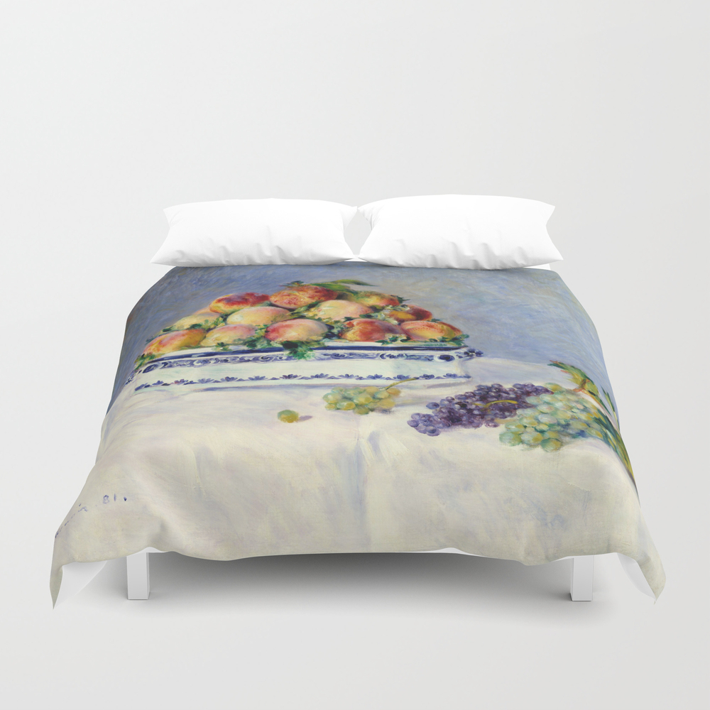 "Auguste Renoir """"still Life With Peaches And Grapes… Duvet Cover by Alexandra_arts"" DUV9097175"