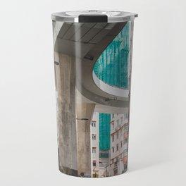 Hong Kong Street Bridge Travel Mug