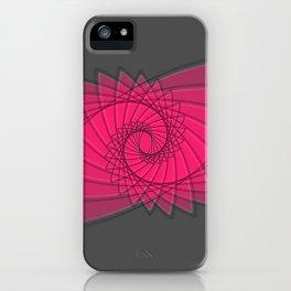 hypnotized - fluid geometrical eye shape iPhone Case