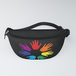Rainbow hands Fanny Pack
