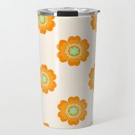 4 Sho - 70's retro 1970's throwback pattern floral flower motif decor hipster Travel Mug
