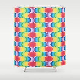 Rainbow Dragon Scales 2 Shower Curtain