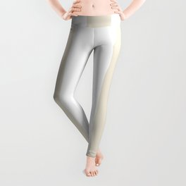 White chocolate pink - solid color - white vertical lines pattern Leggings