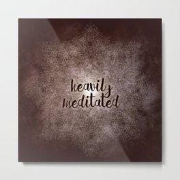 polygon mandala 01 // heavily meditated copper Metal Print