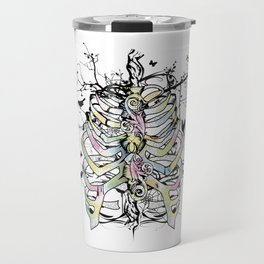 Skeleton of a human thorax Travel Mug