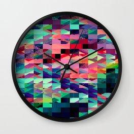 Pixel Dust  Wall Clock