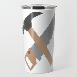 Hammer and saw   Travel Mug