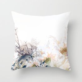 Morning field. Fresh and beauitful Throw Pillow