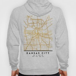 KANSAS CITY MISSOURI CITY STREET MAP ART Hoody