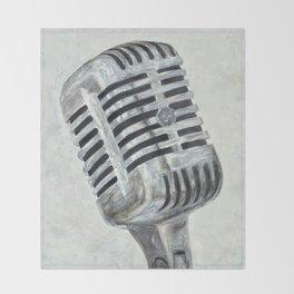 Vintage Microphone Throw Blanket