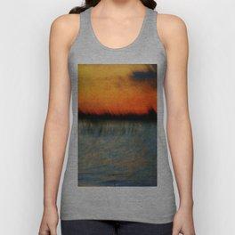Abstract Sunset Unisex Tank Top