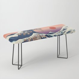 The Great Wave of Dachshunds Bench