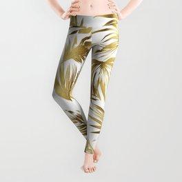 Golden palms Leggings