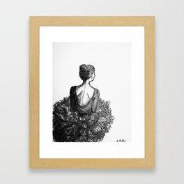 Ballerina in Black&White Framed Art Print