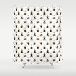 Bumble Bee Shower Curtains