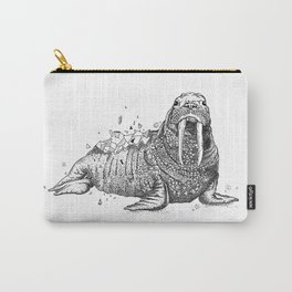Geometric Walrus Carry-All Pouch