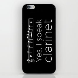 Yes, I speak clarinet iPhone Skin