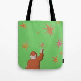 Santa and the Stars Tote Bag