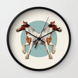 Double Animals: Horses Wall Clock