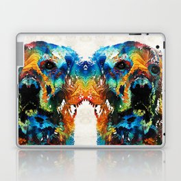 Colorful Dog Art - Heart And Soul - By Sharon Cummings Laptop & iPad Skin