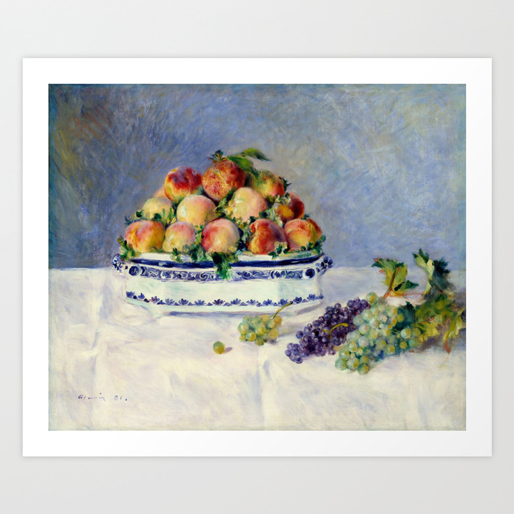 "Auguste Renoir """"still Life With Peaches And Grapes… Art Print by Alexandra_arts"" PRN9097175"
