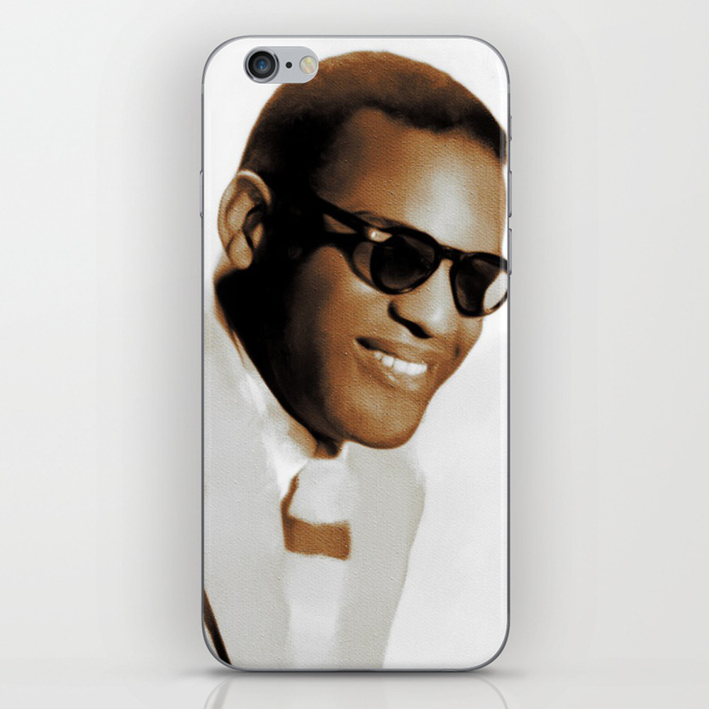 Ray Charles, Music Legend Iphone & Ipod Skin by Esotericaartagency PSK8697553