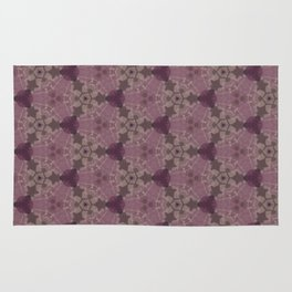 Mauve Rose Grey Hues Delicate Design Pattern Rug