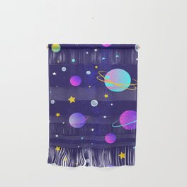 Stars,moons and planets Wall Hanging